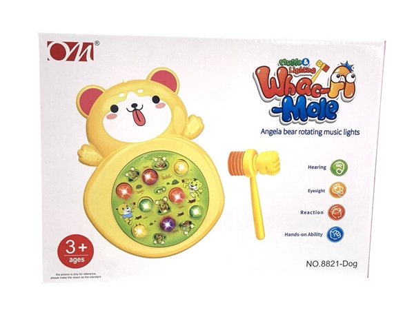 Angel Bear light music spin ground mouse