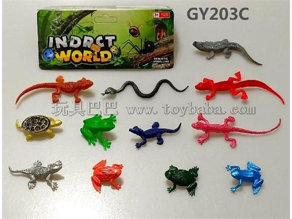 Mini PVC reptile model toy set