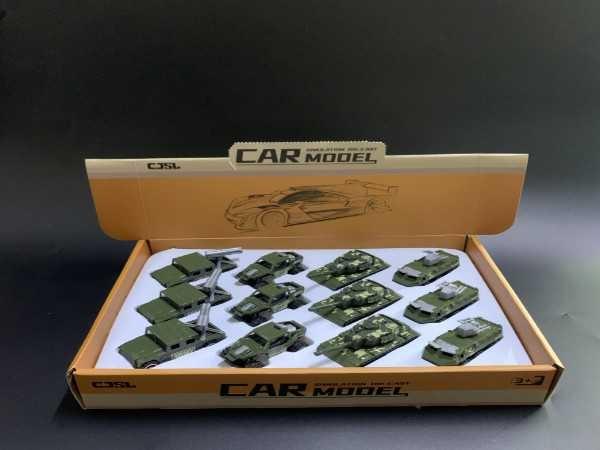 Sliding alloy military vehicle (4 models)