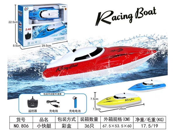 Electric remote control small speedboat