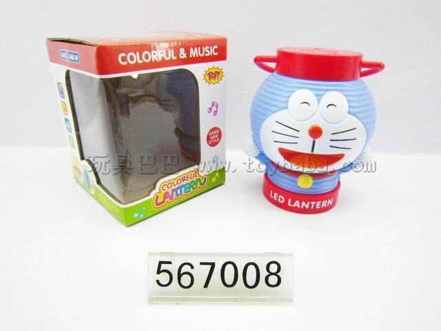 7 colour projection music lanterns (jingle cats)
