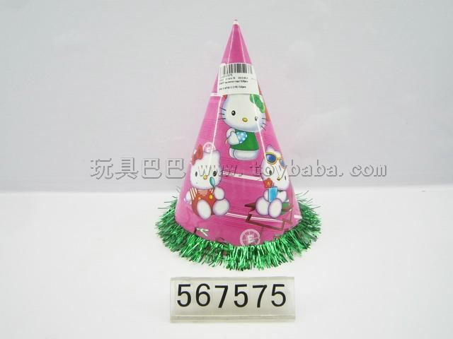 24 cm KT cat lace cap / 12 PCS