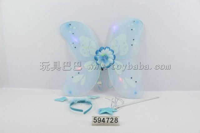 Angel butterfly wings flash stick + headwear +