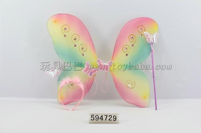 Angel butterfly wings + stick + headdress