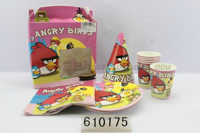 Many cartoon birthday suit (angry birds)