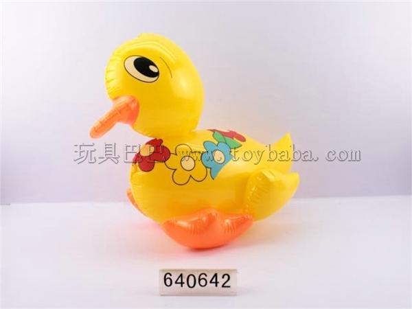 Inflatable yellow duck