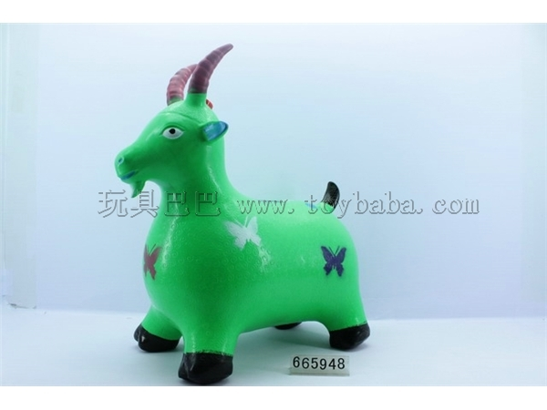 Coloured drawing or pattern inflatable jumping sheep with music IC (bag)