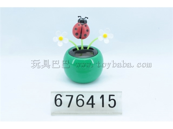 Solar swaying flowers ladybug