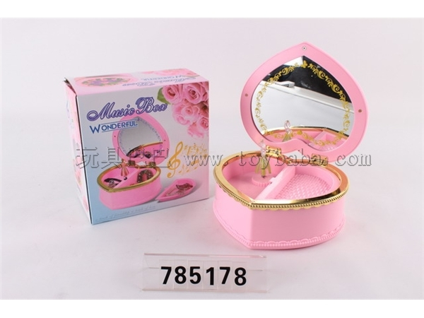 Peach heart music box