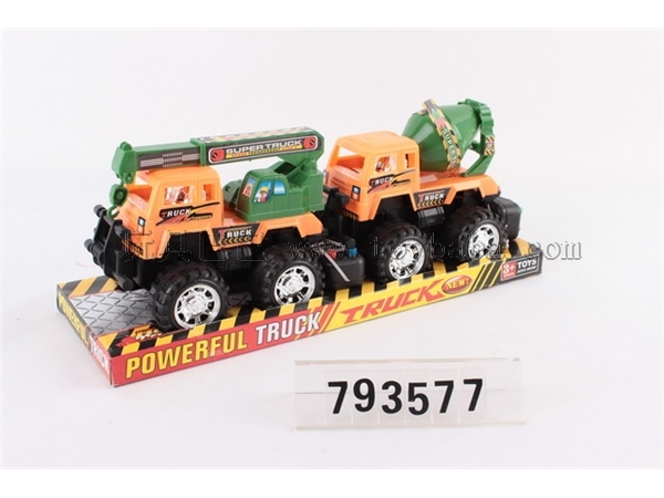 Wire control engineering vehicle / 2 mixed loading