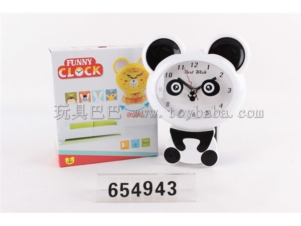 Cartoon panda swing wall clock