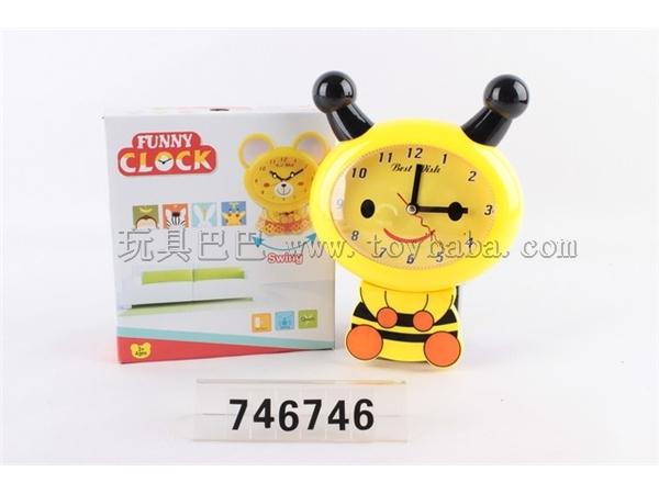 Cartoon bee swing small wall clock