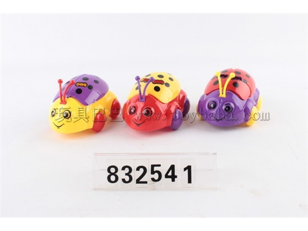 Pull wire Seven Star ladybug with light (sugar can be loaded) / 3-color mixed package