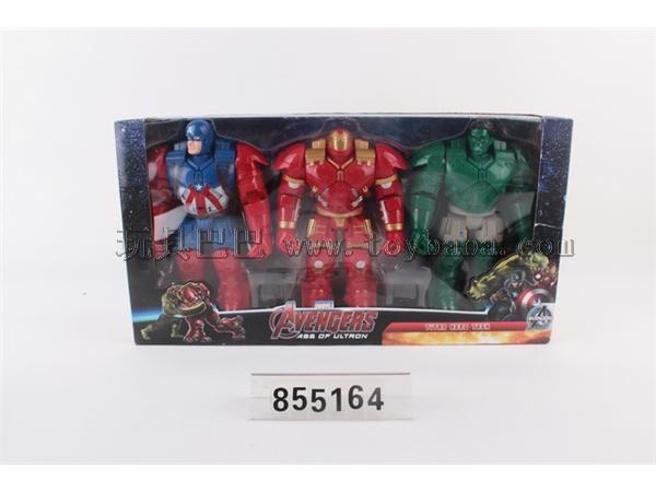 Hulk iron man light music figures 3 only