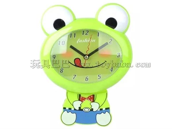 Cartoon frog swing wall clock