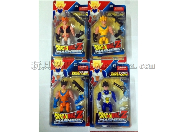 Dragonball doll with light music / 4 mixed