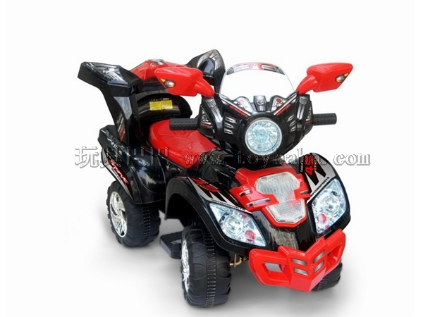 Electric four-wheel motorcycle
