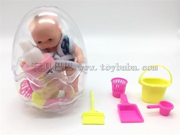 6-inch enamel Doll / bottle cleaning set