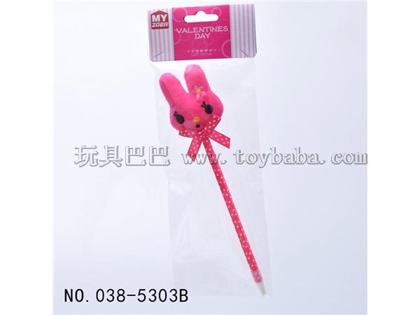 Pink rabbit ball-point pen