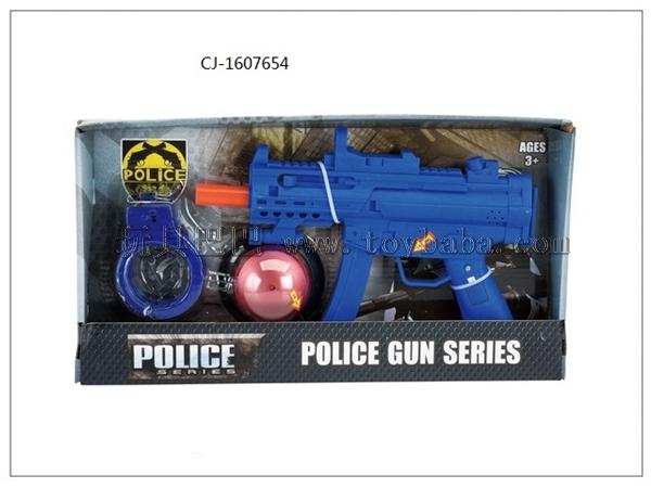 Manufacturer's direct selling export hot selling police set flint gun set cj-1607654