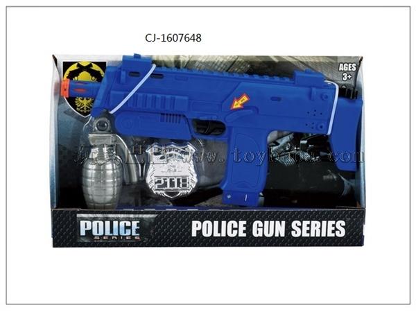 Manufacturer's direct selling export hot selling police set flint gun set cj-1607648