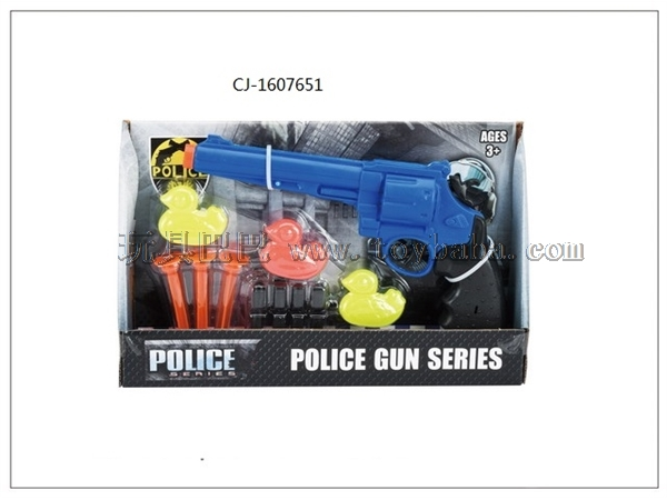 Manufacturer direct selling hot selling needle gun set soft bullet gun police set cj-1607651