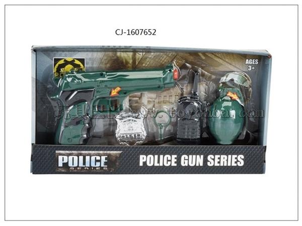 Factory direct selling hot flint gun set police set cj-1607652