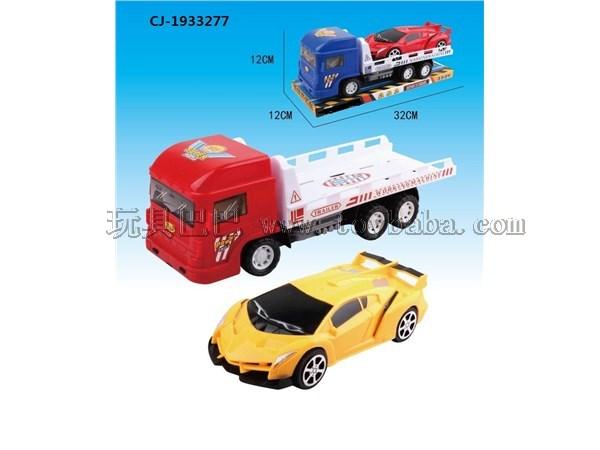 Simulated inertia trailer car model toy inertia tractor car children's house toy trailer combination cj-1933277