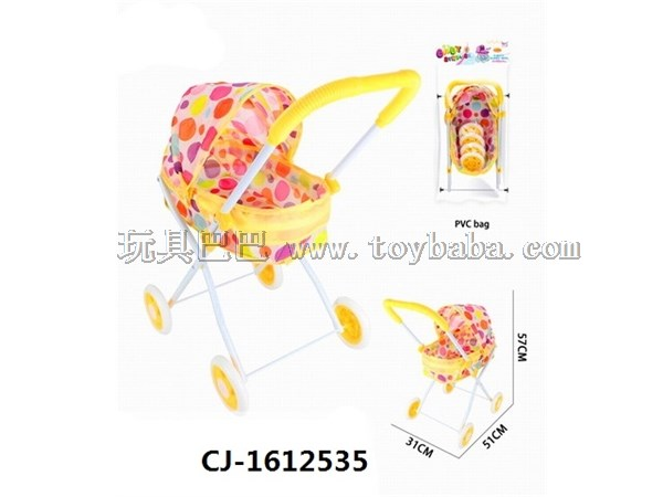 Manufacturer direct selling new girl's house trolley toy simulation baby iron trolley toy baby sunshade trolley