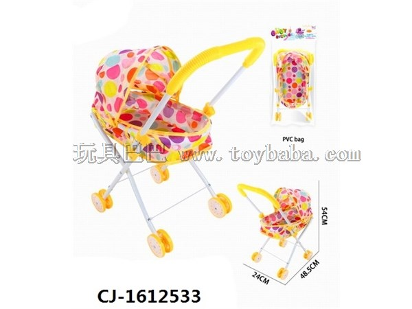 Children's toy simulation baby stroller girl's house toy manufacturer wholesale baby stroller (iron)