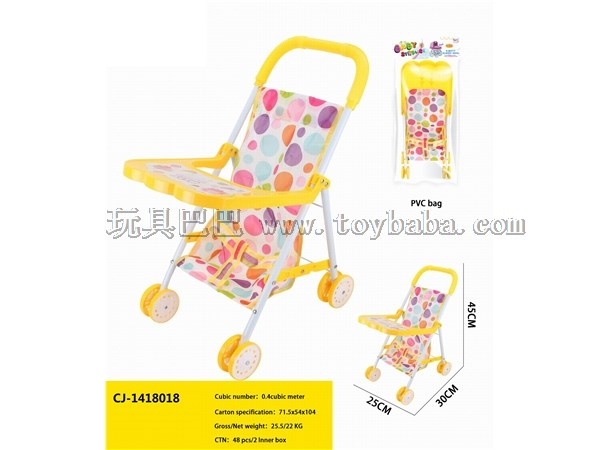 Children's toy simulation baby stroller girl family toy manufacturer wholesale baby stroller + meal board