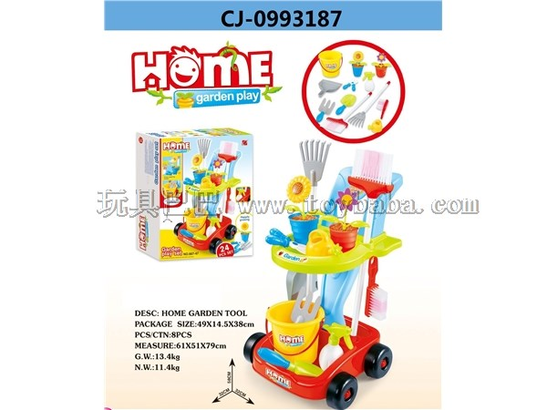 Gardening cleaning cart combination set Sanitary Ware set house toys