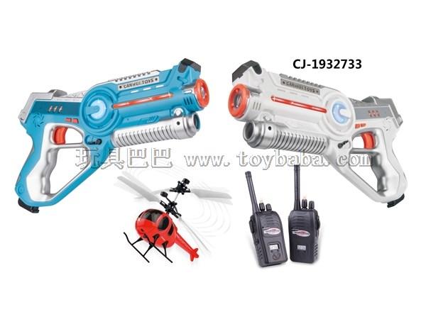 Two gun walkie talkie aircraft set walkie talkie Set Toy