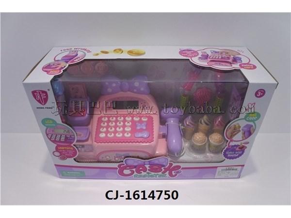 Cash register set children's house supermarket set