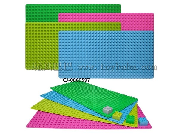 Puzzle building block -- 512 hole building block base plate with large particles