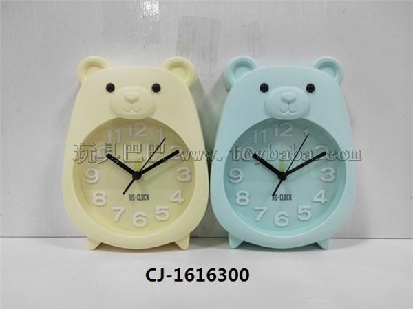 Cute bear alarm clock multicolor