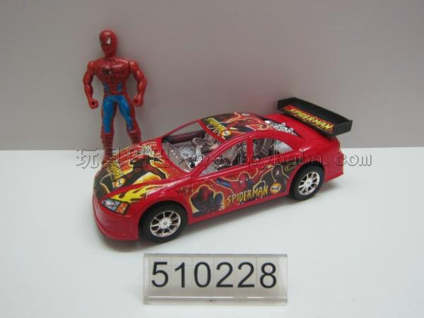 Inertia with spider-man spider-man car/wu in red