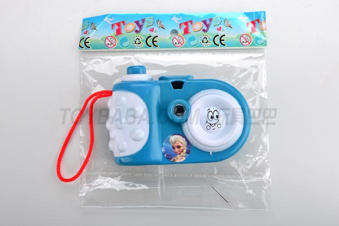Viewing the camera (ice princess design)