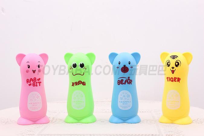 Rechargeable desk lamp (pink rabbit; green frog; yellow bear; blue bear)