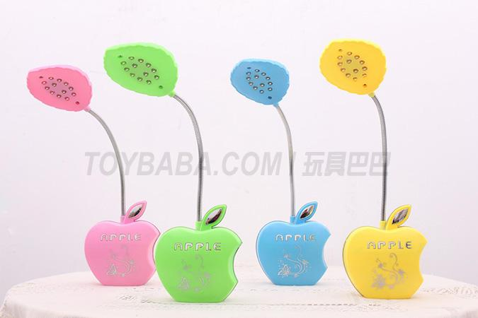 Apple charging table lamp (pink; green; blue)