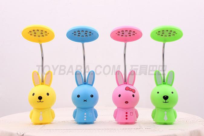 Rabbit charging table lamp (pink; green; yellow; blue)