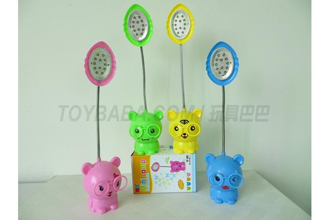 Pink rabbit; Yellow tiger; Blue bear; Green frog charging table lamp