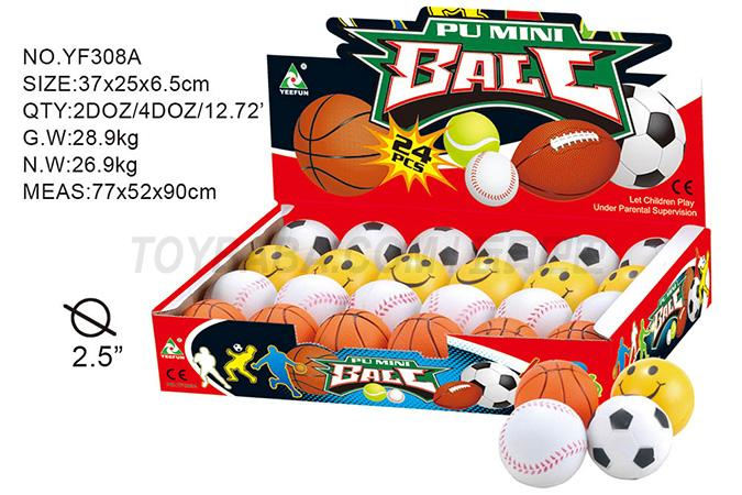 2.5 -inch full basket of PU ball 24 / display box