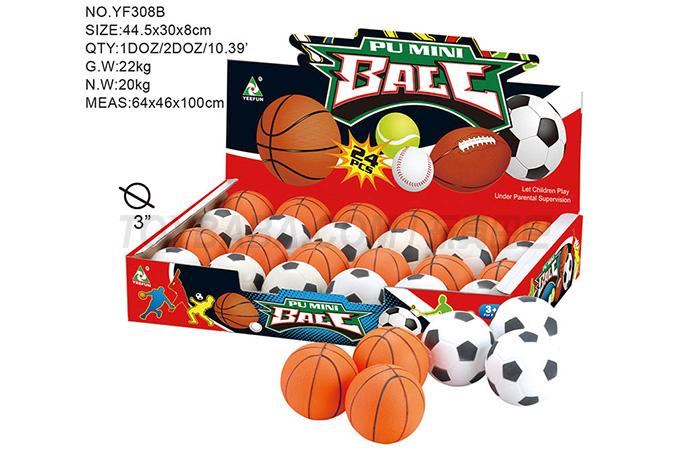 3 inch full basket of PU ball 24 / display box