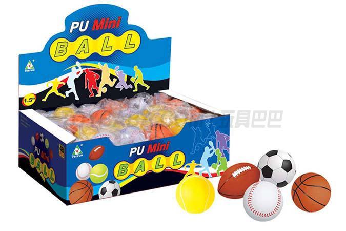 48 1.5-inch Pu balls / display box