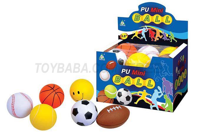 12 3.5-inch Pu balls / display box