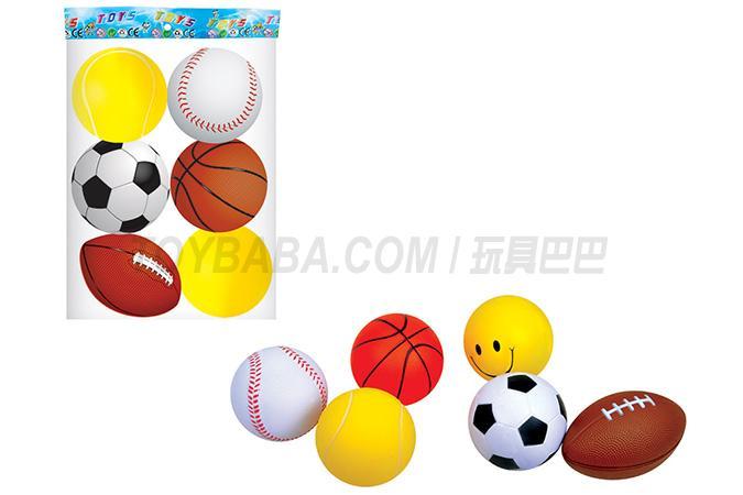 6 3.5-inch Pu balls / bag