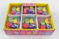 SX-7610四个装水果橡皮擦 36包一盒
