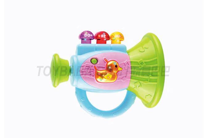 Light music toot trumpet