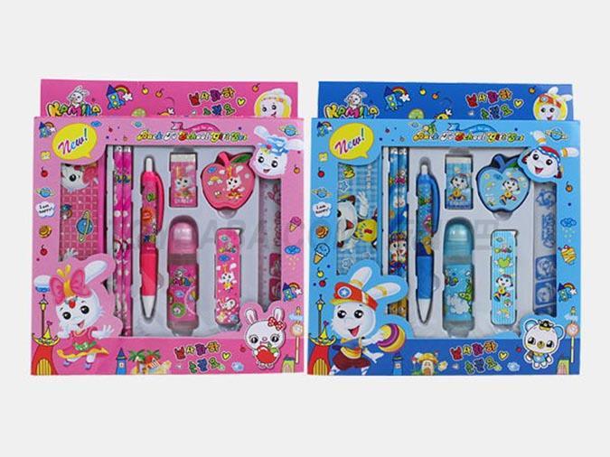 9 in 1 cute cartoon stationery set